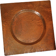 Hand Hammered Copper Tray by Enrique Avalos, Chile