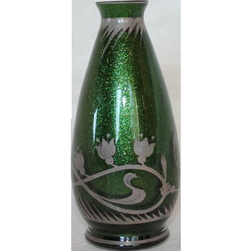 colored gl vases vintage with Sparkling Green Aventurine Vase Art Nouveau on Glassware also Jun28 in addition Square Glass Vases likewise Japan Glentex Collar Necklace likewise 014500410004.