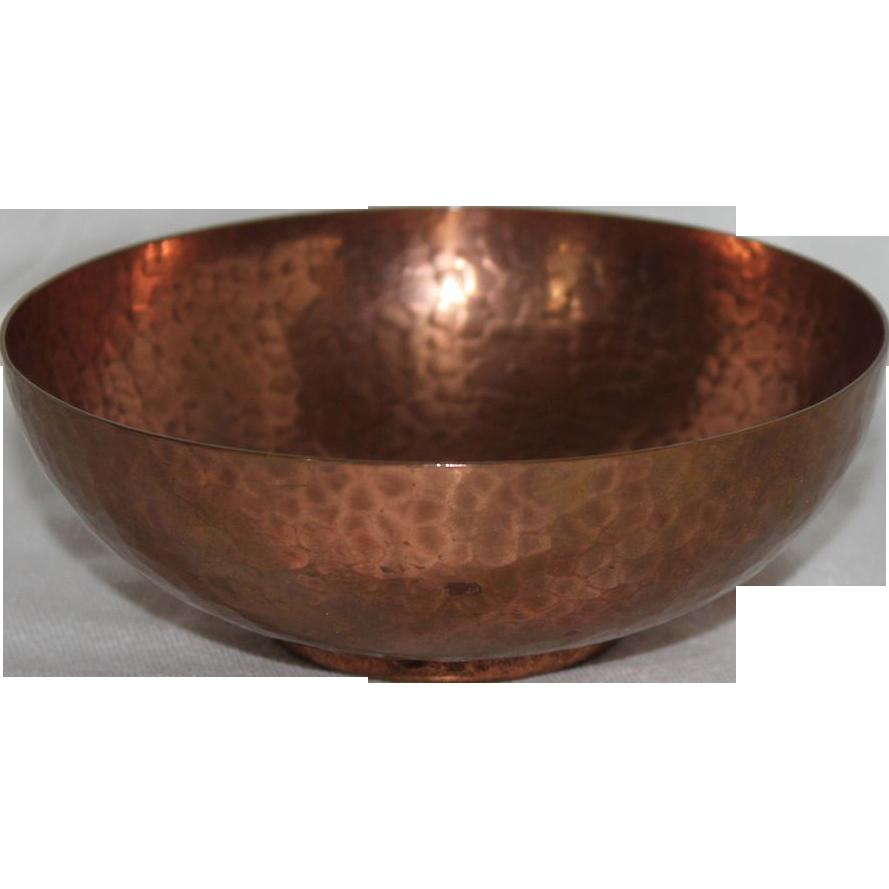 newlyn hand hammered copper sugar bowl and nips england