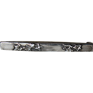 Unger Brothers Sterling Silver Ivy Pin in Original Box, Newark, NJ, 1910
