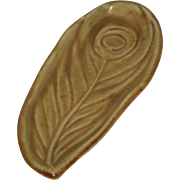 Rookwood Peacock Feather Pin Tray, 1924, Cincinnati
