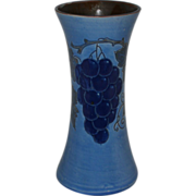 Baron Barnstaple Sgraffito Grapes Vase, England 1900