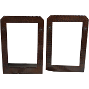 Roycroft Hammered Copper Frame Bookends Aurora Brown, Aurora, NY, 1910 – 15