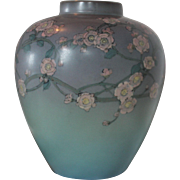 Substantial Rookwood Vellum Floral Vase hand decorated by Ed Diers, Cincinnati, 1926