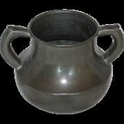 Pewter Vase w/ Tinker's Dam Repair