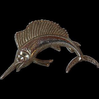 Sterling Silver Sailfish Pin
