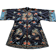 Silk Embroidered Informal Lady's Surcoat China, late 1800's AND early 1900's (1880 - 1910)
