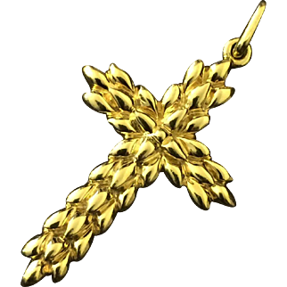 Tiffany & Co 18k yellow gold circa 1990s Cross Pendant