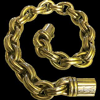 Scott Kay 925 Sterling Silver Men Double link Bracelet