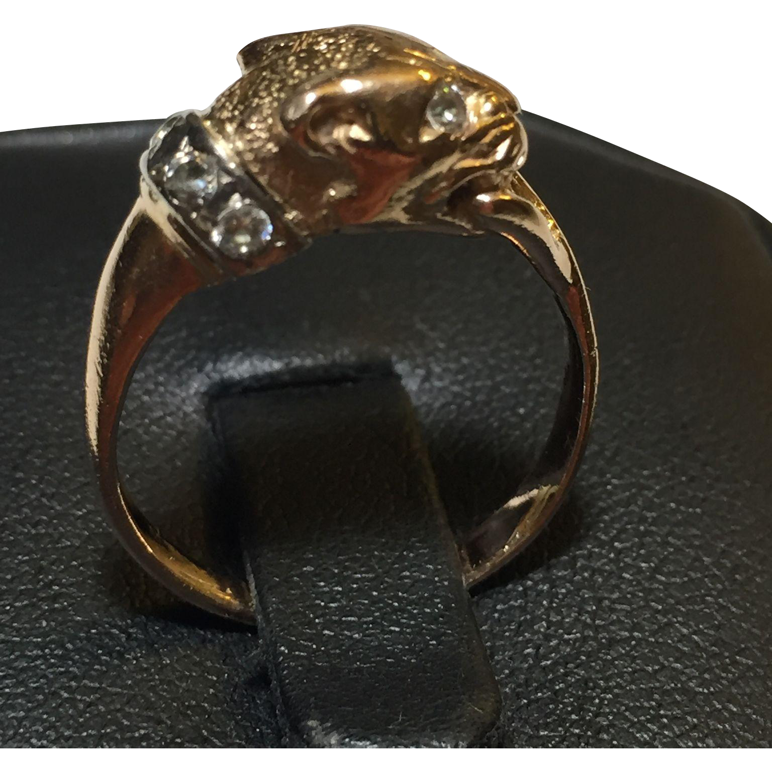 panther ring russian gold 583 14k statement size 8