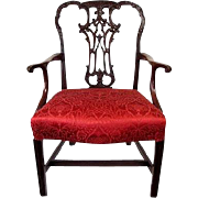 English Georgian Mahogany Armchair C 1770
