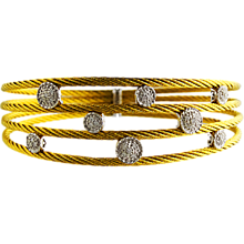 Charriol 18K Gold & Stainless Nautical Cable Bracelet