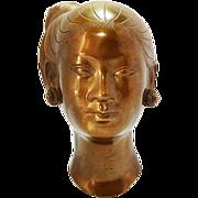 Japanese Bronze Sculpture Of A Woman Koshiminami Etunan - Red Tag Sale Item