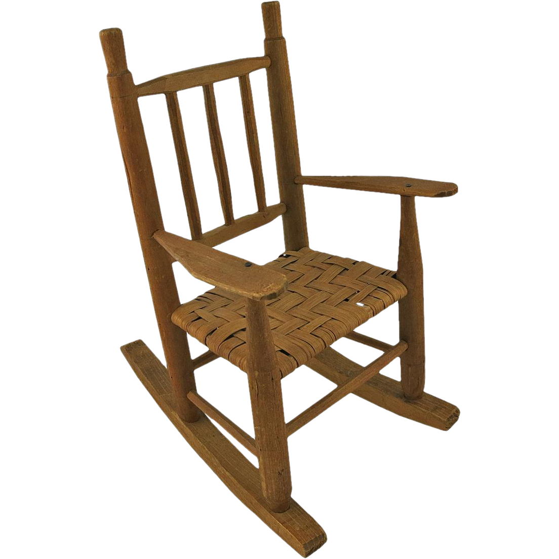 Vintage wooden doll s rocking chair from acanthusantiques