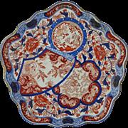 Japanese Imari Meiji Period Pentagonal Porcelain Tray