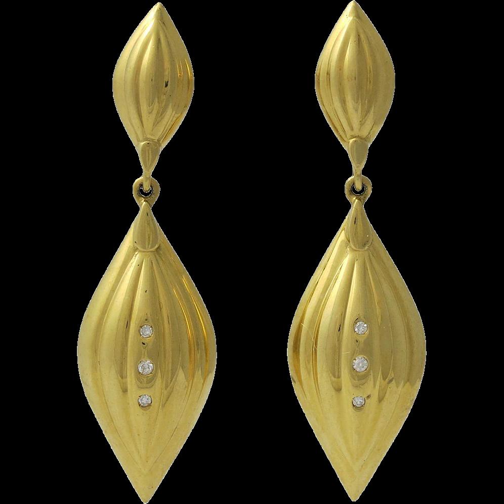 Elegant 18k Gold And Diamond Pierced Earrings From. Fun Stud Earrings. Honey Bee Pendant. Saint Necklace. Sylvie Engagement Rings. 10k Rings. Bezel Set Rings. Gold Anklet Chains. Sleek Watches