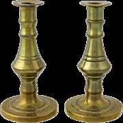 Nineteenth Century Miniature Brass Candlesticks