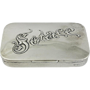 """Gorham Sterling Silver """" Solace """" Snuff Box 1891"""