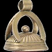 "Georgian 9K Gold and Carnelian ""Sophia"" Fob Seal Pendant"