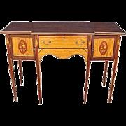 English Georgian Style Satinwood Sideboard C 1900