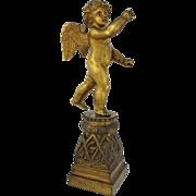 19th Century Continental Gilt Bronze Cherub