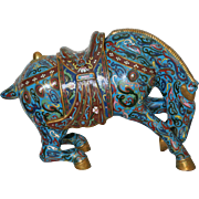 Large Chinese Cloisonné Horse Early 20th Century