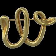 Vintage Tiffany & Co. 18K Gold Brooch by Elsa Peretti