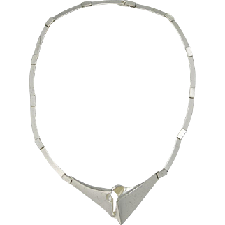 Lapponia Sterling Silver Finland Necklace 1987