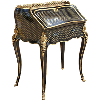 French Louis XV Style French Desk Alphonse Giroux