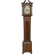 English Georgian Style Mahogany Grandmother Clock