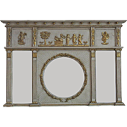 English Regency Neoclassical Overmantel Mirror