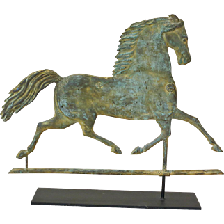 Harris Black Hawk Running Horse Weathervane