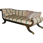 Regency Period Painted Recamier Sofa