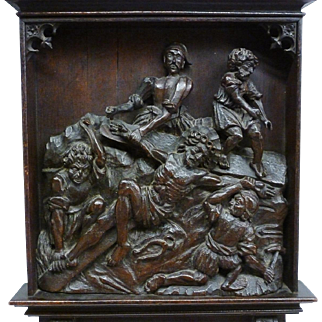 17th / 18th Century Carved Relief Of The Lamentation