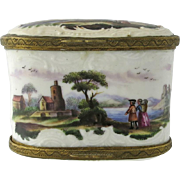 18th Century European Double Sided Enamel Snuff Box
