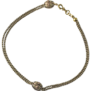 Victorian 14K Rose & Yellow Gold Watch Chain Necklace