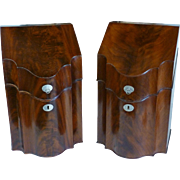 Pair English Eighteenth Century Mahogany Knife Boxes