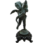19th Century Continental Bronze Cherub Fountain