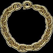 Italian 14K Yellow Gold Hermes Style Link Bracelet