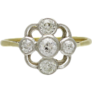 Edwardian Platinum over 18K Gold and Diamond Ring