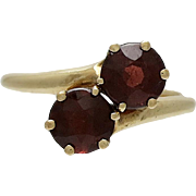 Late Victorian 14K Gold Garnet Ring