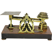 English Brass & Wood 19th Century Scales
