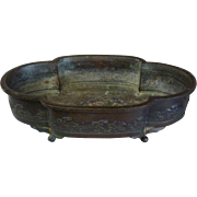 Chinese Bronze Jardiniere With Scenic Decoration