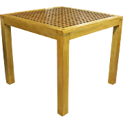 Mid Century Lattice Top Parsons Table
