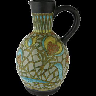 Vintage Dutch Gouda Pottery Pitcher