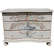 German Baroque Style Painted Chest