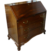 Eighteenth Century Rhode Island Mahogany Slant Front Desk