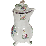 18th Century French Faience Chocolate Pot