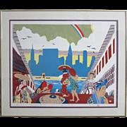 """Tsing – Fang Chen """" Tokyo – New York """" Silkscreen 1981"""