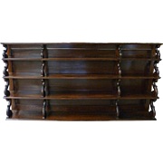 English William IV Rosewood Hanging Shelf